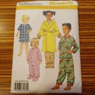 1572 SIMPLICITY sewing pattern TODDLER CHILD SLEEPWEAR ROBE SZ 3-6 pajamas uncut