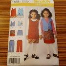 1568 SIMPLICITY sewing pattern Girls Dress Vest Skirt Pants Toddler Sz 3-8 Uncut