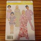 1571 SIMPLICITY sewing pattern Girls SLEEPWEAR nightgown SZ 3-6 pajamas uncut