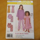 Simplicity 1722 Childs Girls Lounge Dress Top Pants Sz 7-14 Learn to Sew New