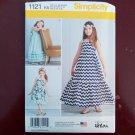 Simplicity 1121 Sewing Pattern Little Sparrow Dresses Girls Sz 7-14 Boho Ruffled