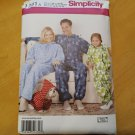 Simplicity 1731 Family One Piece Fleece Pajamas Sewing Pattern Child Adult Sizes