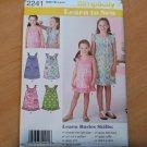Child Girls Sundress Simplicity Pattern 2241 Size 3 4 5 6 Learn To Sew Uncut New