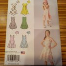 Simplicity Pattern 1456 GIRLS DRESS SUMMER EMPIRE HAT ALINE TWEEN Sz7-8-10-12-14