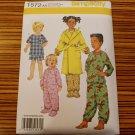 1572 SIMPLICITY sewing pattern BABY TODDLER SLEEPWEAR ROBE SZ1/2-2 pajamas uncut