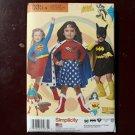 Simplicity 1035 Sewing PatternWonder Woman Super Girl Batgirl Size 3-8 Costume Sewing Pattern