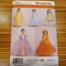 SIMPLICITY 1303 Girls Baby Toddlers Costume PRINCESS, FAIRY, HALLOWEEN Sz 6m-2