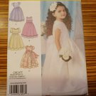 Simplicity Pattern 1507 GIRL'S SPECIAL OCCASION DRESS Party Wedding Sz 4, 5, 6, 7, 8