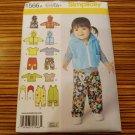1566 SIMPLICITY sewing pattern Baby Overalls Jacket Vest Pants Shirt Hat SzXXS-L