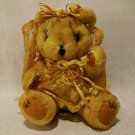 "VINTAGE Teddy Bear Sewing Pin Cushion 6"" Cute Creepy Halloween Voodoo Doll Scary"