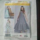 Simplicity 1121 Sewing Pattern Little Sparrow Dresses Girls Sz 3-6 Boho Ruffled