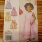 Simplicity Pattern 1507 GIRL'S SPECIAL OCCASION DRESS Party Wedding Sz 1/2, 1, 2, 3