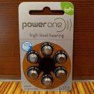 Power One Zinc Air High Level Hearing Batteries 6 Pk PR41/P312 1.4V Exp 07/2022