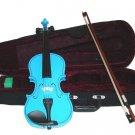 Crystalcello MV300BL 1/4 Size Blue Violin with Case