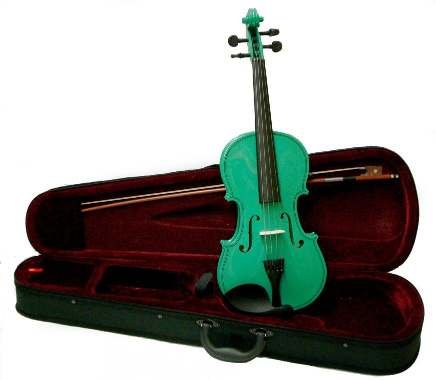 Crystalcello MA100GR 12 inch GREEN Viola with Case
