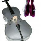 Rugeri MC150SV 4/4 Size Silver Cello with Case