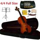 Rugeri 4/4 Size Violin+Case+Bow+2Sets String,2Bridges,Shoulder Rest,Mute,Rosin,Metro Tuner,Stand