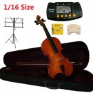 Rugeri 1/16 Size Violin+Case+Bow+2 Sets String,2 Bridges,Rosin,Metro Tuner,Music Stand