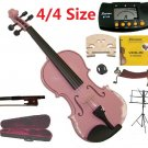 Merano 4/4 Size Pink Violin+Case+Bow+2Sets String,2Bridges,Shoulder Rest,Mute,Rosin,Tuner,Stand