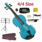Rugeri 4/4 Size Blue Violin+Case+Bow+2Sets String,2Bridges,Shoulder Rest,Mute,Rosin,Tuner,Stand