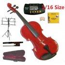 Merano 1/16 Size Red Violin+Case+Bow+2 Sets String,2 Bridges,Rosin,Metro Tuner,Music Stand