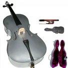 Rugeri MC150SV 1/4 Size Silver Cello with Case