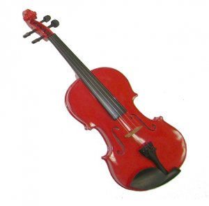 Rugeri MV400RD 3/4 Size Solid Wood Ebony Fitted Violin with Case and Bow ~ RED