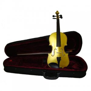 Rugeri MV400GD 1/8 Size Solid Wood Ebony Fitted Violin with Case and Bow ~ GOLD