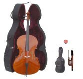 Merano 4/4 Size Student Cello with Hard Case + Soft Carrying Bag + Bow + Free Rosin