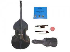 Merano 3/4 Size Black Upright Double Bass with Bag,Bow,Bridge+2 Sets Strings+Rosin