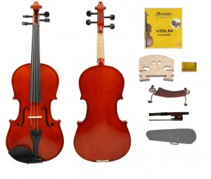 MERANO BEAUTIFULLY VARNISHED 4/4 Size EBONY Fitted HANDMADE Flamed VIOLIN with Case,Bow