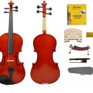 MERANO BEAUTIFULLY VARNISHED 3/4 Size EBONY Fitted HANDMADE Flamed VIOLIN with Case,Bow
