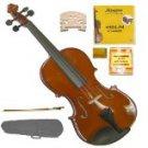 Merano MV200 3/4 Size SolidWood Violin,Case,Bow+Rosin+2 Sets Strings+2 Bridges+Tuner