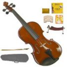 Merano MV200 1/8 Size SolidWood Violin,Case,Bow+Rosin+2 Sets Strings+2 Bridges+Tuner+Shoulder Rest