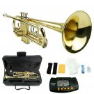 MERANO GOLD LACQUER PLATED TRUMPET WITH CASE