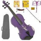 Merano 1/8 Size Purple Violin with Matching Color Bow, Music Stand