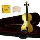 Merano 1/4 Size Gold Acoustic Violin,Case,Bow+Rosin+2 Sets of Strings+2 Bridges