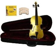 Merano 1/10 Size Gold Acoustic Violin,Case,Bow+Rosin+2 Sets of Strings+2 Bridges