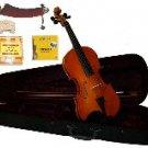 Merano 3/4 Size Natural Violin,Case,Bow+Rosin+2 Sets Strings+2 Bridges+Tuner+Shoulder Rest