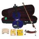 Merano 1/2 Size Purple Violin,Case,Bow+Rosin+2 Sets Strings+2 Bridges+Tuner+Shoulder Rest
