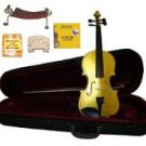 Merano 1/2 Size Gold Violin,Case,Bow+Rosin+2 Sets Strings+2 Bridges+Tuner+Shoulder Rest