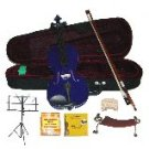 Merano 1/2 Size Purple Violin,Case,Bow+Rosin+2Sets Strings+2 Bridges+Tuner+Shoulder Rest+Music Stand