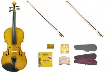 Merano 1/2 Size Gold Violin,Case,2 Bows+Rosin+2 Sets of Strings+2 Bridges+Tuner