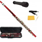 MERANO RED LACQUER PLATED FLUTE WITH CASE + Free Stand
