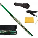 MERANO GREEN LACQUER PLATED FLUTE WITH CASE + Free Stand