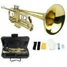 Merano B Flat Gold Trumpet with Case+Mouth Piece+Valve Oil