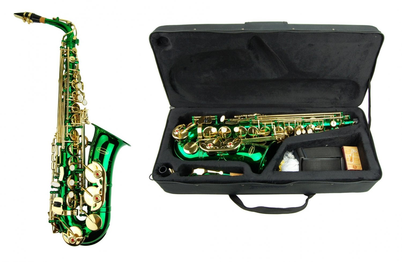 MERANO E Flat GREEN Alto Saxophone with Case and Accessories