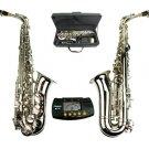 MERANO E Flat Silver Alto Saxophone with Case,Free Metro Tuner