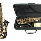 E Flat Black / Gold Alto Saxophone with Case