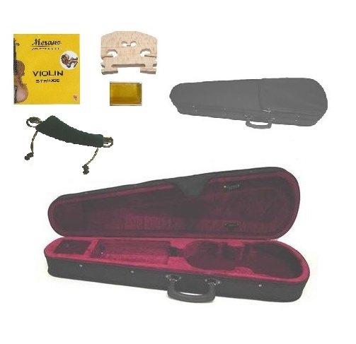 Merano CV100 3/4 Size Violin Case+A Set of Strings+Bridge+Rosin+Shoulder Rest